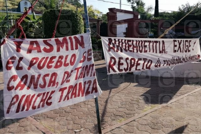 Impiden toma de protesta de presidenta en Ahuehuetitla