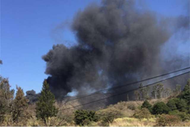 Explosión de toma provoca cierre de la Puebla-Orizaba