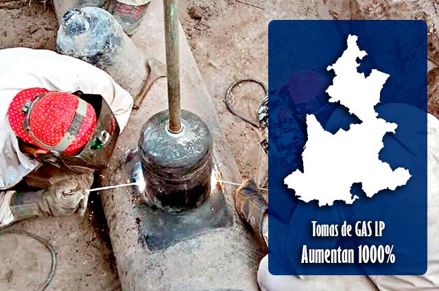 Ordeña de gas LP aumentó más de mil por ciento en Puebla