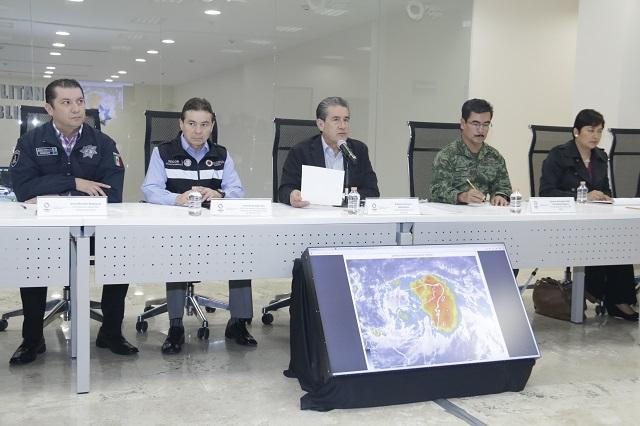 Peligran 63 municipios de Puebla ante la tormenta Franklin