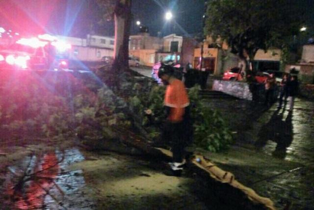Tras tormenta eléctrica surgen daños en Puebla capital