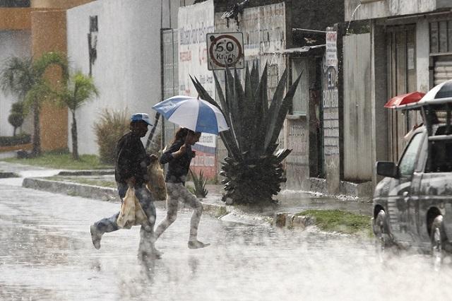Anticipan lluvias intensas en Puebla este lunes
