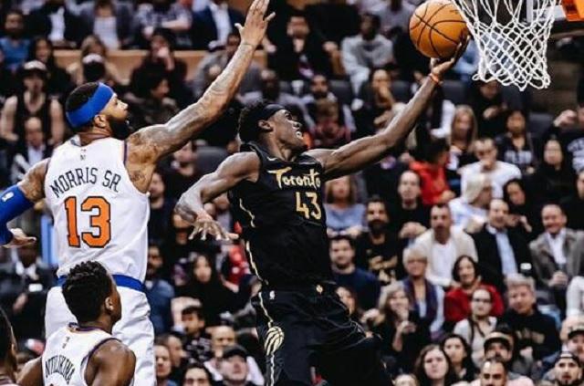 Raptors consiguen su cuarta victoria ante unos Knicks apagados