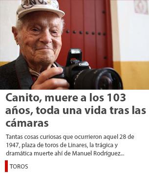 Canito, muere a los 103 años, toda una vida tras las cámaras