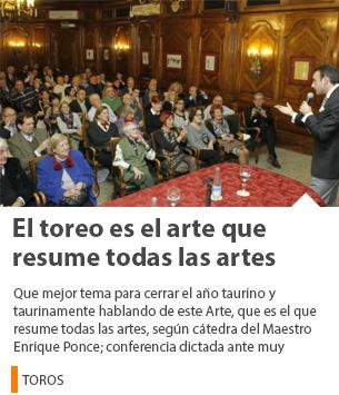EL TOREO ES EL ARTE QUE RESUME TODAS LAS ARTES