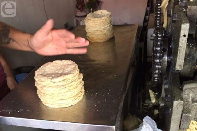 Sorprende en Izúcar el aumento en el precio de la tortilla