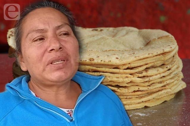 Reducción del 50% en ventas de tortillerías de Cholula