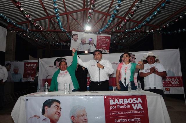 Tengo fuerza para ganarles y aplicar la ley: Barbosa