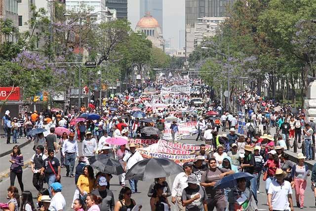 Tres mil policías vigilarán las marchas del Día del Trabajo en la CDMX