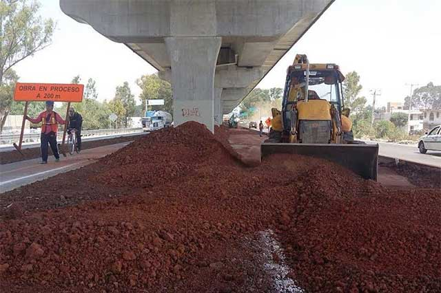 Para retirar la ciclovía en la autopista trabajarán día y noche