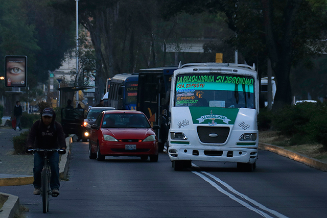 Infraccionan cada 2 horas una unidad del transporte en Puebla