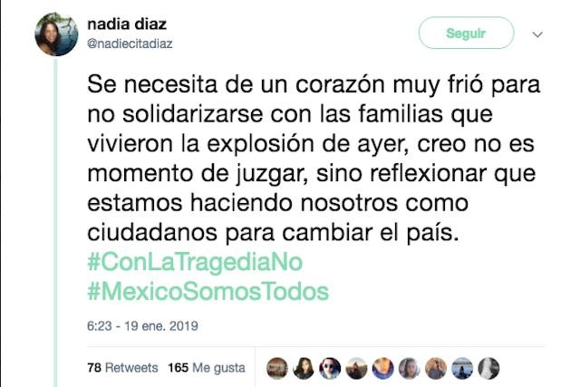 #ConLaTragediaNo circula en Twitter para parar mensajes ofensivos
