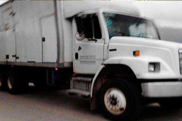 Recuperan unidad con 20 toneladas de productos Nestlé