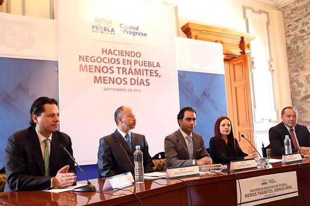 Reducen trámites y tiempo para abrir negocios en Puebla