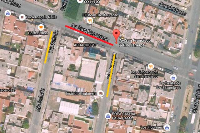 Sustituyen drenaje en San Manuel y cierran tramo de Avenida San Francisco