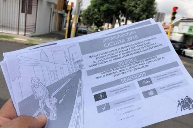 Reacciones encontradas por tramos para ciclistas en Avenida Nacional