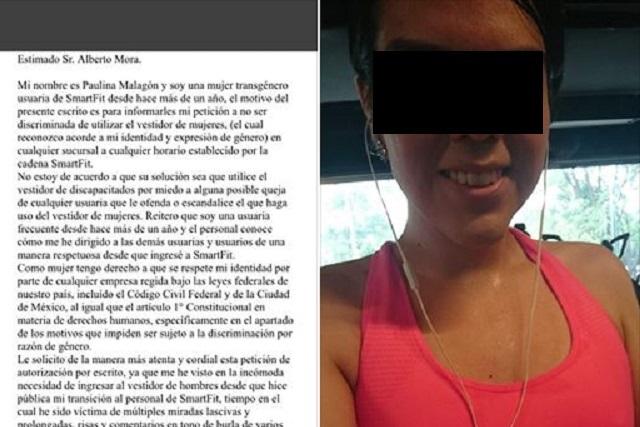 Mujer trans denuncia que fue discriminada en gimnasio en México