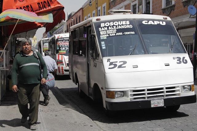 Ignoran transportistas plan para salir del Centro de Puebla