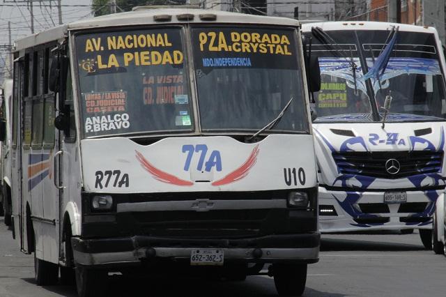 Sin llegar recursos para botones de pánico en transporte público