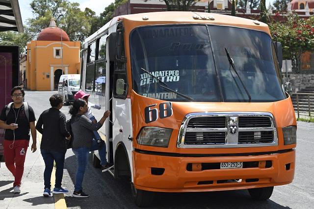 Alistan protestas contra alza al transporte público en Puebla