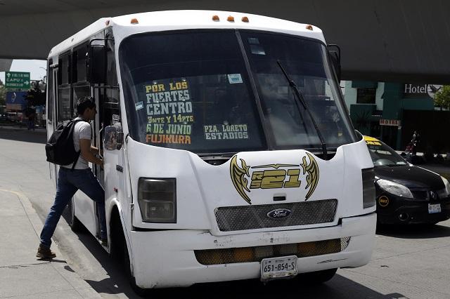 Arranca este jueves Transporte Público Nocturno en Puebla