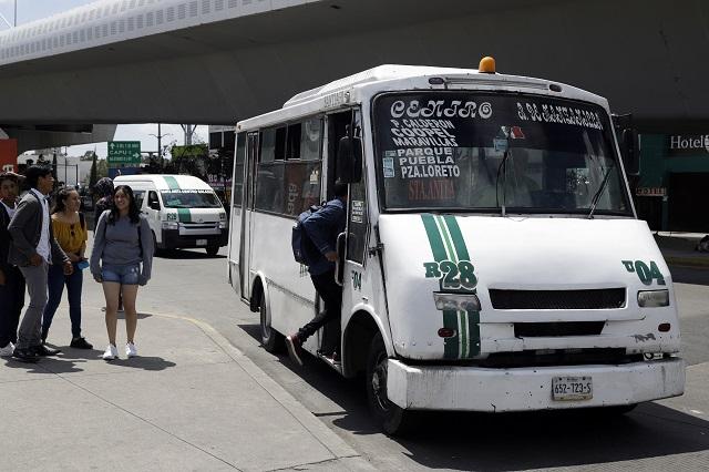 Piden activistas sólo 50 centavos de aumento al transporte en Puebla