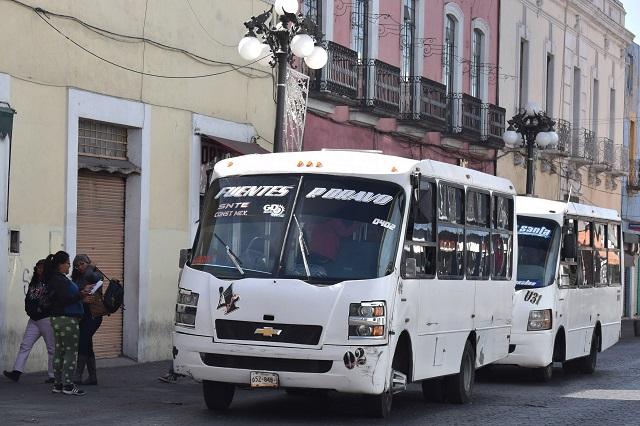 Seguridad en transporte público se cumplirá, aseveran en la FROC