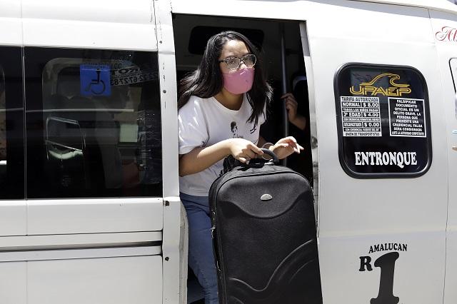 Un fiasco, la sana distancia en transporte público de los estados