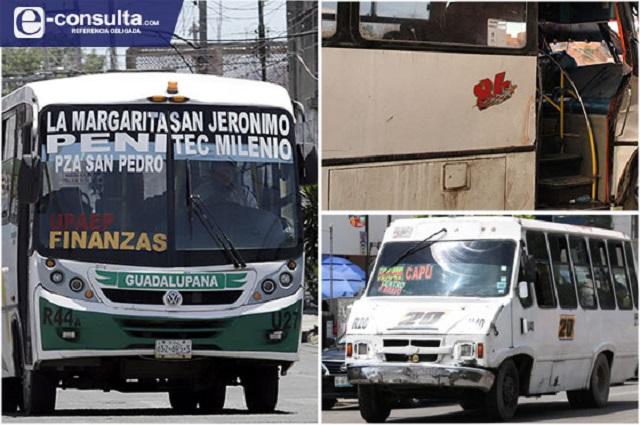 También falla modernización del transporte; sólo 1.7% cumple en Puebla