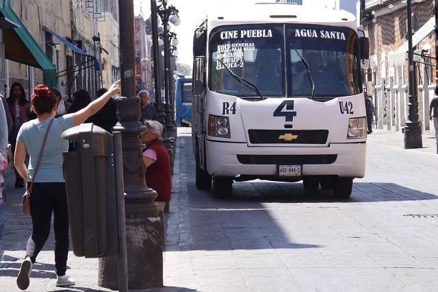 Pacheco Pulido no elevará el costo del transporte público en Puebla