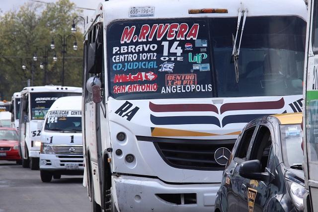 Nuevas rutas de transporte en centro de Puebla, a consulta