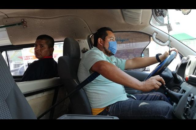 Transporte público de Tehuacán toma medidas ante Covid-19