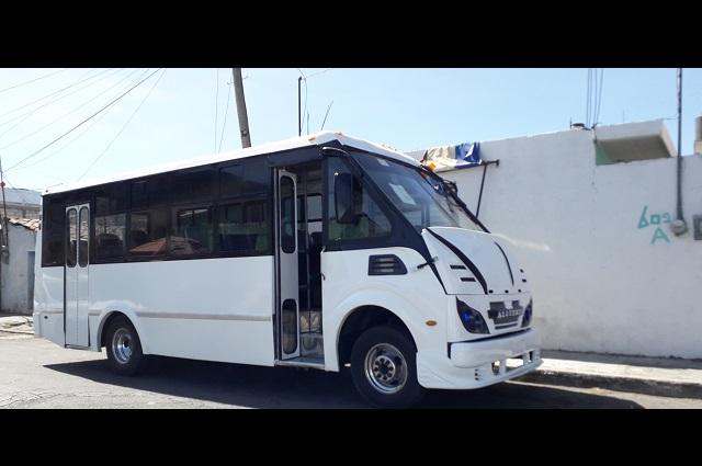 En Atlixco falta renovar el 5% de las unidades de transporte