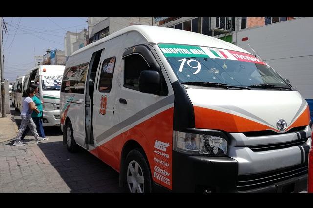 Reducen unidades de transporte en Tehuacán por falta de pasaje