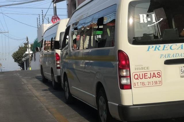 Por Covid-19 transporte de Teziutlán debe evitar sobrecupo