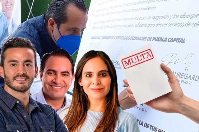 Ganan y los castigan por gastos y campañas irregulares en Puebla