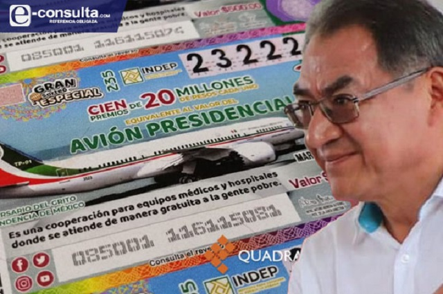 Ganan 3 escuelas de Puebla en rifa del avión de AMLO