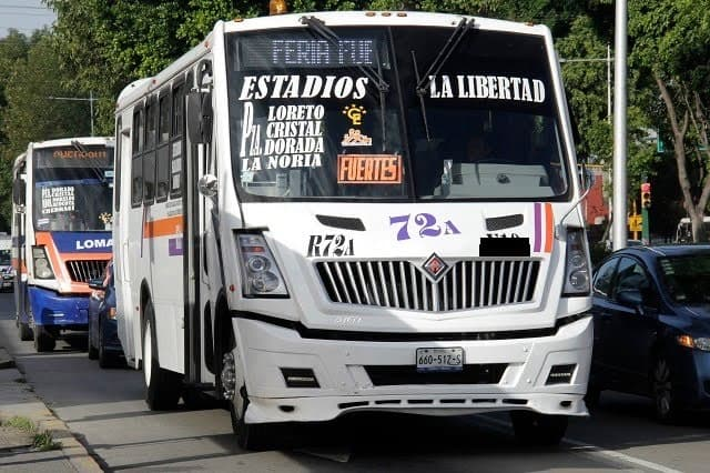 En una mañana, tres asaltos al transporte colectivo en Puebla