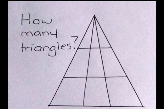 Acertijo viral: ¿Cuántos triángulos ves en esta imagen?