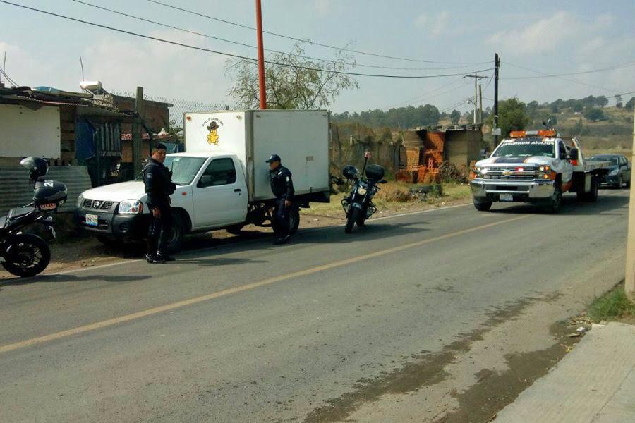 Recupera policía de San Pedro Cholula camioneta robada