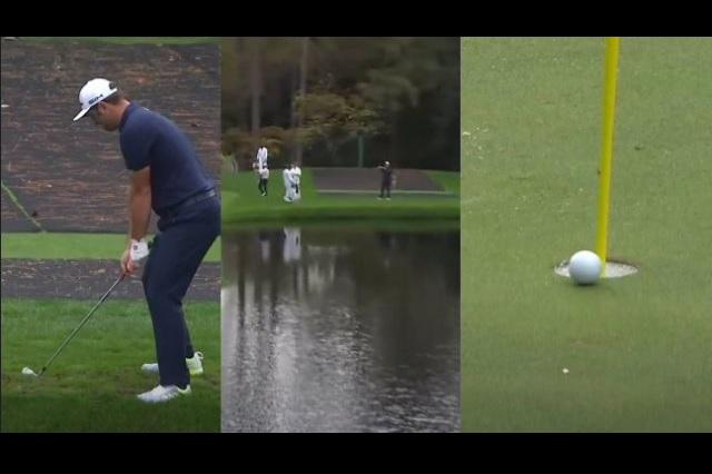 El increíble truco de golfista para que la bola 'corra' sobre el agua: Video