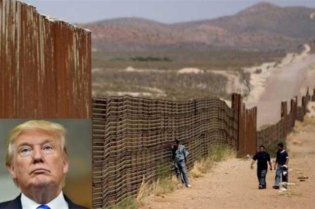 Trump advierte que el muro no es broma y que ya lo está diseñando