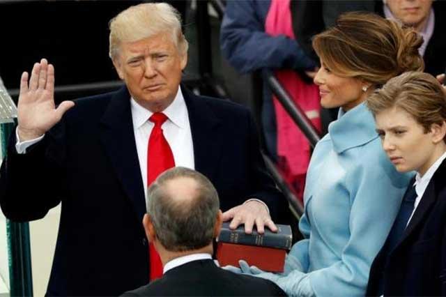 Donald Trump asume el poder y se convierte en presidente de EU