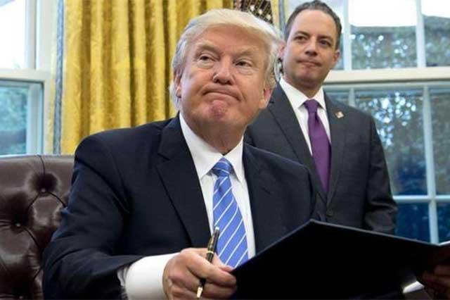 Trump advierte que si su veto pierde, no habrá seguridad en EU