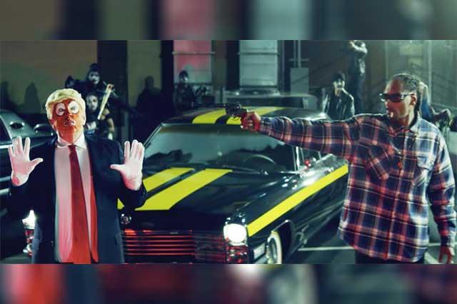 Snoop Dogg le dispara a Trump en video y el republicano le responde