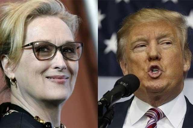 Trump le revira a Meryl Streep que es una actriz sobrevalorada