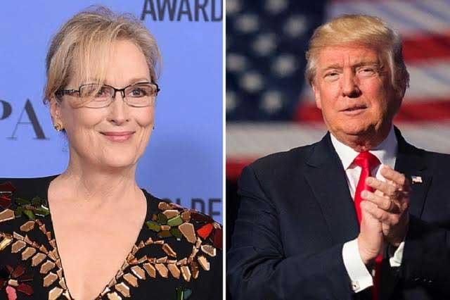 Trump le responde a Meryl Streep tras discurso en los Globos de Oro