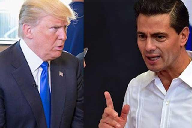 Revela Trump que Peña Nieto fue quien lo llamó por teléfono