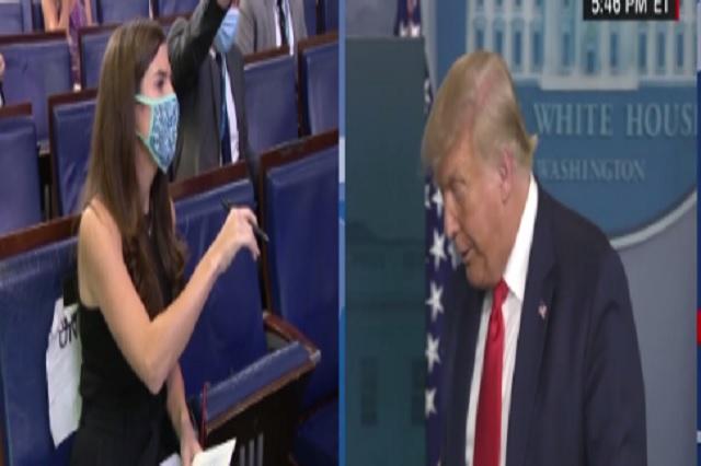 Trump abandona conferencia de prensa  tras pregunta sobre el coronavirus