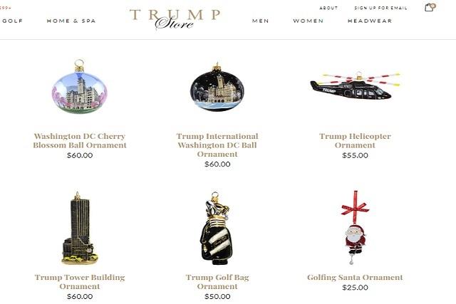 Familia Trump lanza su línea de adornos navideños